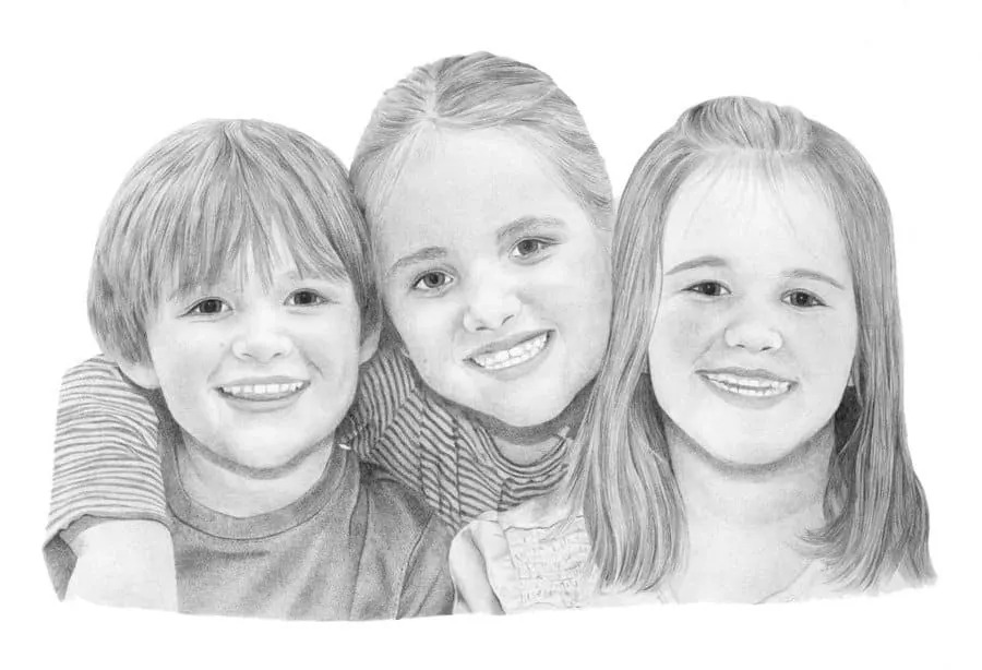 Billy_Emily_and_Verity_Pencil_Portrait_Tamsin_Dearing_Copyright_-2013