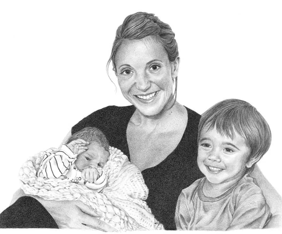 Emmas_Boys_Pencil_Portrait_Tamsin_Dearing_Copyright_2015