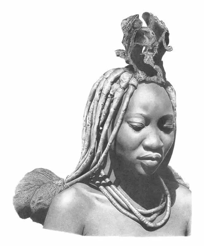 Himba_Woman_Pencil_Portrait_Tamsin_Dearing_Copyright_2011