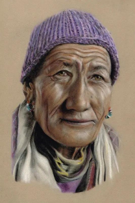 Tibetan_Shaman_Pastel_Portrait_Tamsin_Dearing_Copyright_2014